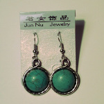 Crazy Sale Price - Turquoise Cab Zinc Alloy Dangle Earrings