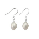 50% OFF Sterling Silver & Freshwater Pearl Drop Earrings