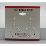 Liquidation Sterling Silver Twisted Circle Earrings