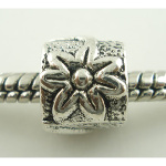 Tibetan Silver High-Relief Flower Blossom Wrap Spacer Bead