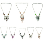 Mixed Alpaca Silver and Murano Art Glass Hand-Crafted Necklaces